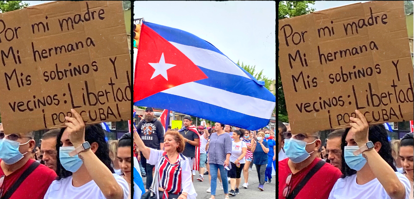 Hudson County Marches For Cuban Liberation